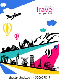 Vector Infographics Travel and Vacation concept elements