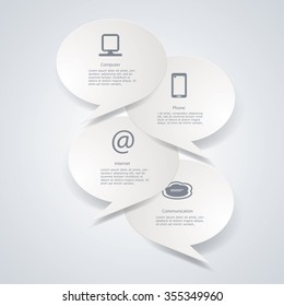Vector infographics with web and computer icons.