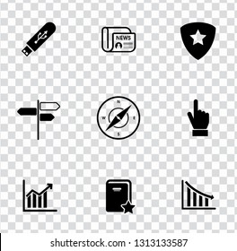 vector Information icons set. graphic design illustrations concept, computer pictogram