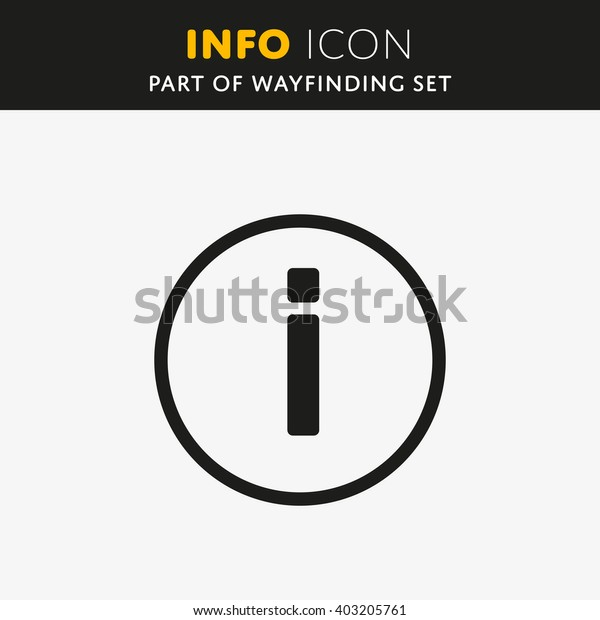 Vector information sign icon. Info symbol in round shape.