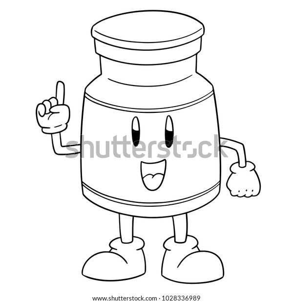 vector of injection medicine cartoon
