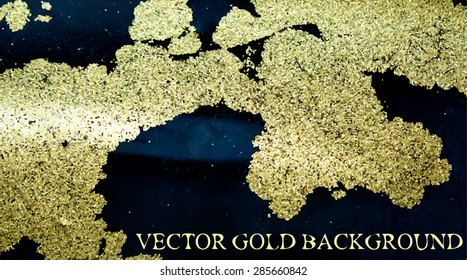vector ink background with gold powder