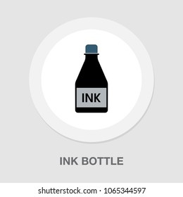 vector Ink bottle icon, calligraphy supplies for fountain pen