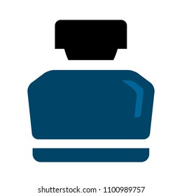 vector ink bottle illustration isolated, calligraphy object - art icon