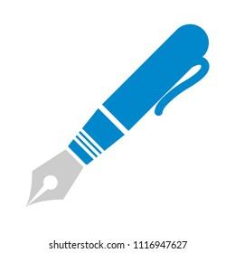 vector Ink fountain pen icon, calligraphy supplies for fountain pen