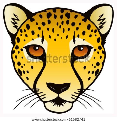 vector ink illustration cheetahs head stock vector royalty free rh shutterstock com Leopard Face Clip Art Leopard Head Silhouette
