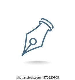Vector Ink Pen Tip Icon Symbol