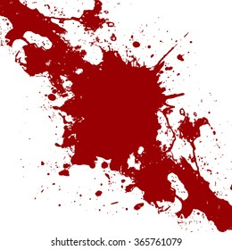 Vector ink  red paint splatter  Background. illustration vector design