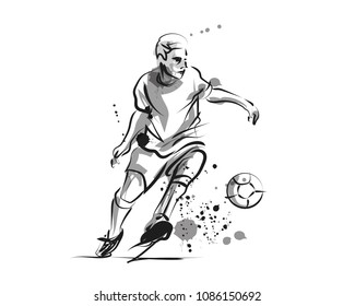Vector ink of soccer