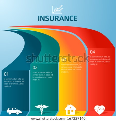 insurance risk template  Vector Insurance Style Infographic Template Home Stock Vector ...