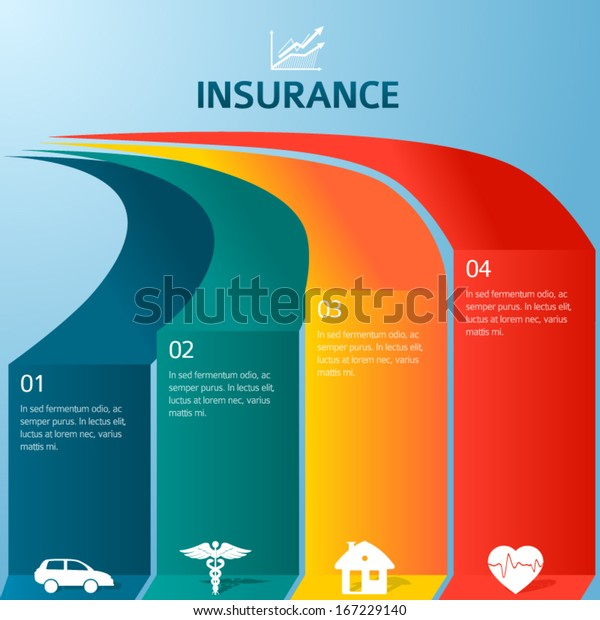 Homeowners Insurance Company >> Vector Insurance Style Infographic Template Home