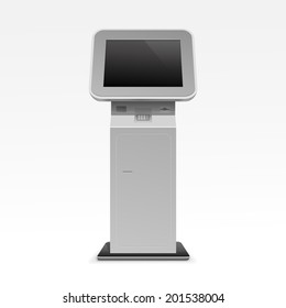 Vector Interactive Information Kiosk Terminal Stand Screen Display Console Infokiosk
