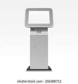Vector Interactive Information Kiosk Terminal Stand Screen Display Console Infokiosk