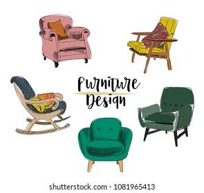 Remarkable Furniture Stock Vectors Images Vector Art Shutterstock Squirreltailoven Fun Painted Chair Ideas Images Squirreltailovenorg