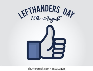 Vector International Left-handers Day Poster