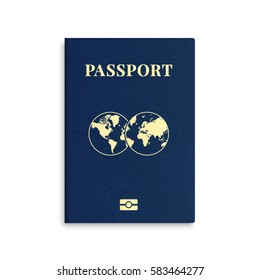 Vector international passport cover template
