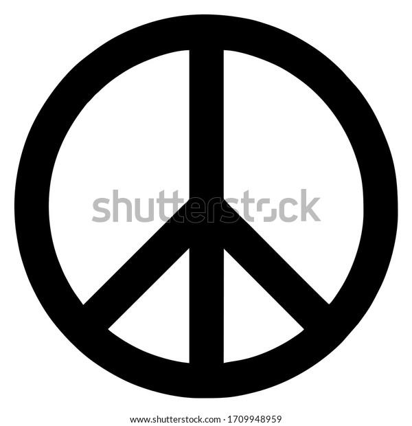 vector international symbol of peace disarmament anti war movement