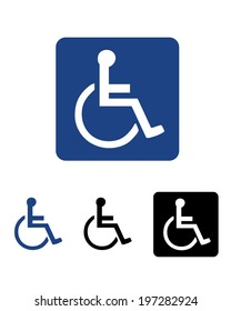 Vector International wheelchair and disability symbol set