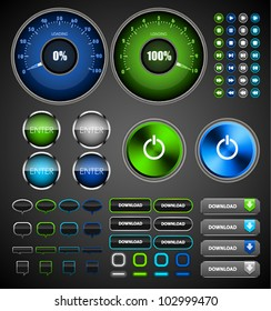 Vector internet icons and buttons.