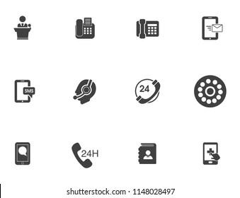 vector Internet icons set - communication elements, mobile phone icons