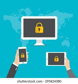 vector internet security concept
