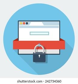 Vector internet security icon