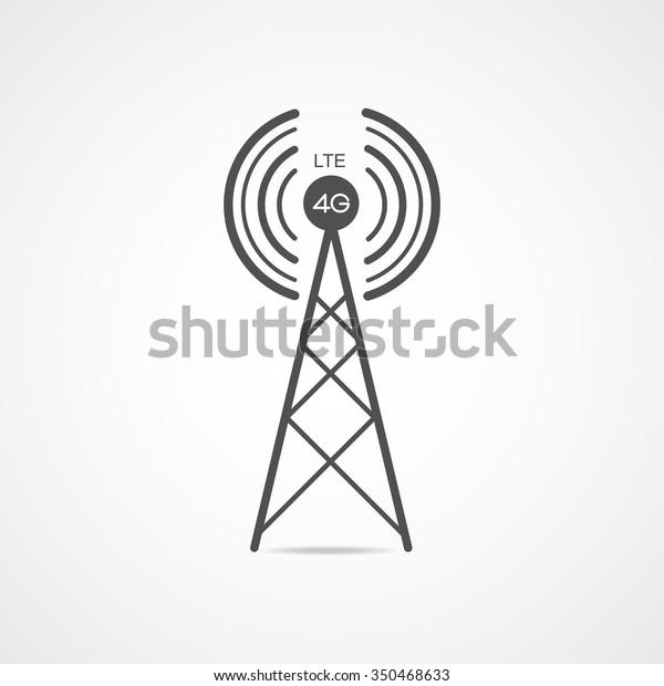 Vector Internet Signal Spot Antenna Communication Stock Vector