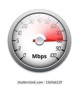 Vector internet speed icon
