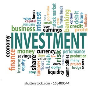 Vector Investment concept tag cloud