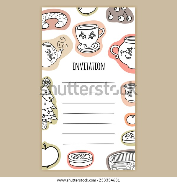 Vector Invitation Card Birthday Card Celebration Stock
