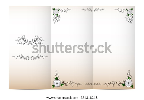 Vector Invitation Card Layout Design Template Backgrounds