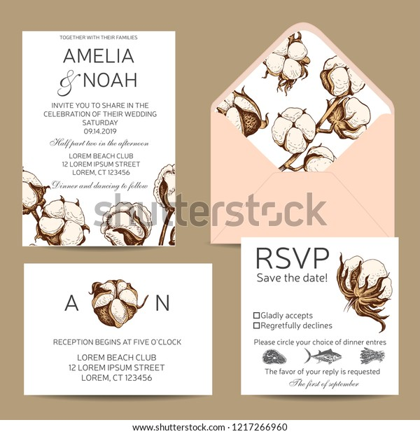 Vector Invitation Wedding Template Invitation Card Stock