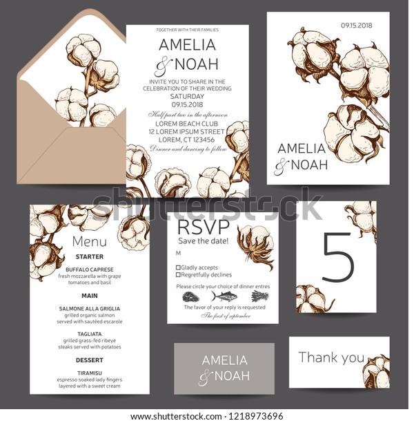 Vector Invitation Wedding Template Invitation Card Stock