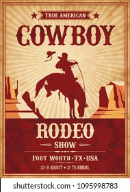 Vector Invite template for a Rodeo or Wild West theme party