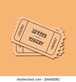 Vector invite tickets