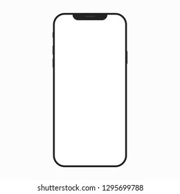 Vector iphone X (XS) placed on white background.