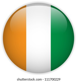 Vector - Ireland Flag Glossy Button