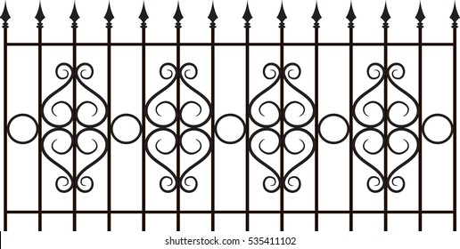 Vector iron fence