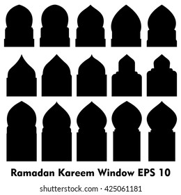Vector Islamic door and window shapes / Arabic door and window vector silhouette  sc 1 st  Shutterstock & Mosque Door Images Stock Photos u0026 Vectors | Shutterstock