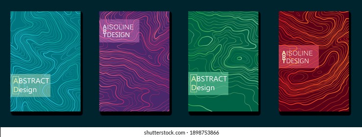 Vector isolane frame design. Minimalistic line gradient halftone. Element for design business cards, invitations, gift cards, flyers and brochures.