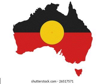 Vector isolated aboriginal style symbolic design.