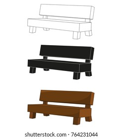vector isolated bench