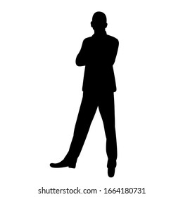 vector, isolated, black silhouette man, businessman, guy
