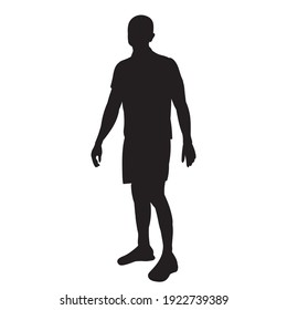vector, isolated, black silhouette of a man walking