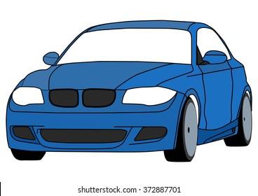 Vector isolated Blue Sportcar