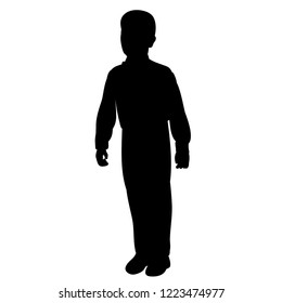 vector isolated boy standing