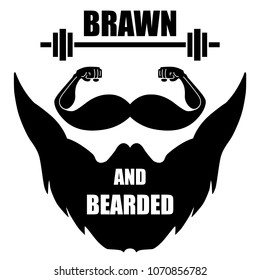 Vector isolated Brawn and Bearded sign