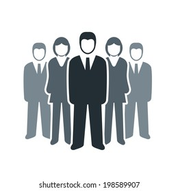 Vector isolated business people icon. Team work concept.