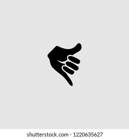 vector isolated call me hand icon