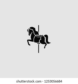 vector isolated carousel horse illustration